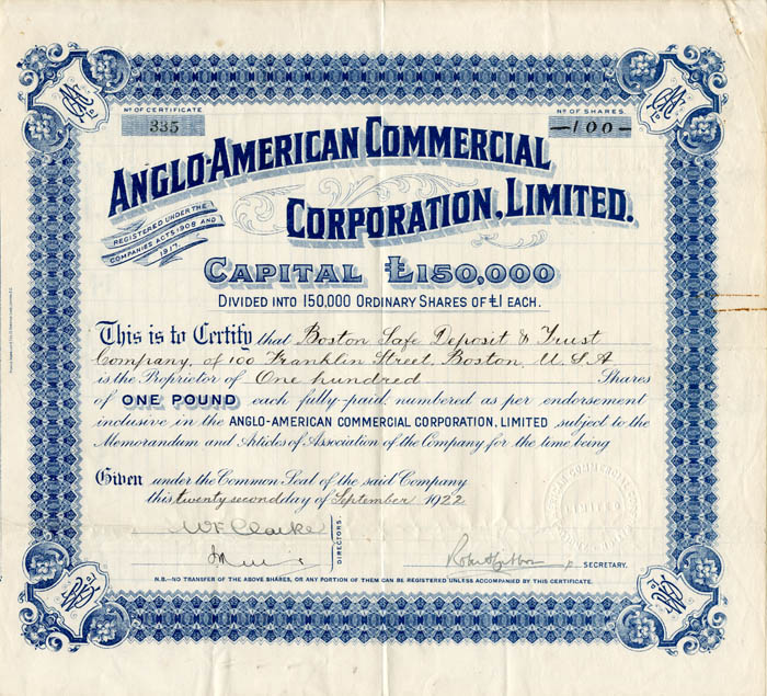 Anglo-American Commercial Corporation, Limited