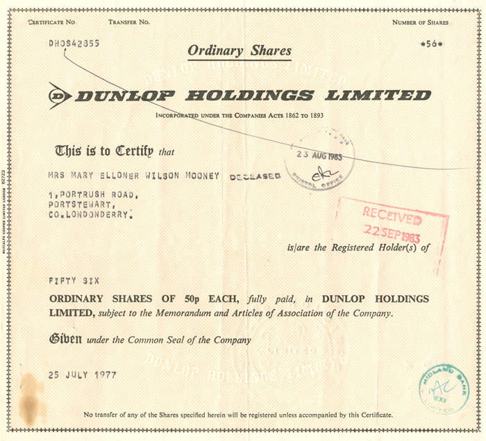 Dunlop Holdings Limited