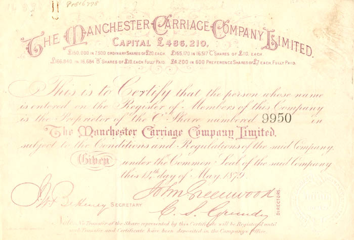 Manchester Carriage Company Limited