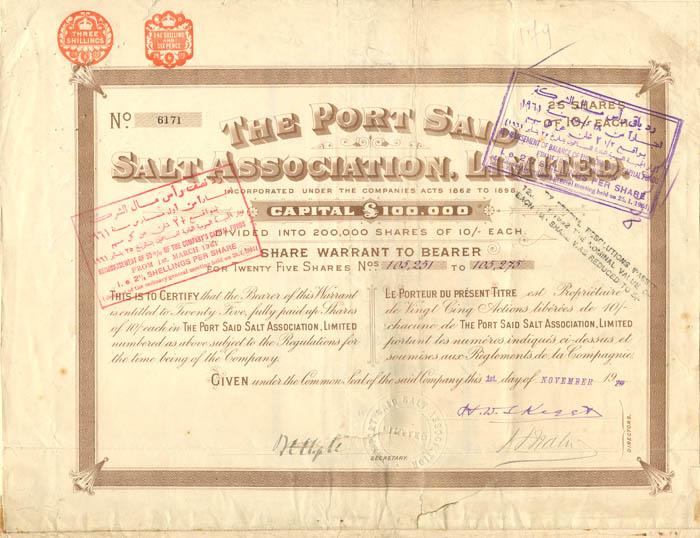 Port Said Salt Association, Limited
