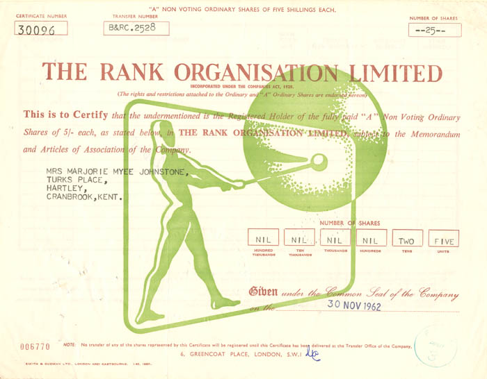 Rank Organisation Limited