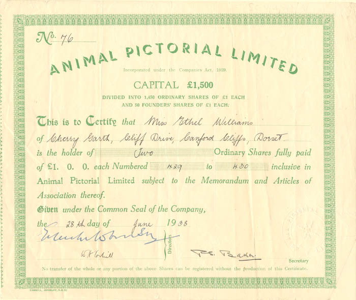 Animal Pictorial Limited