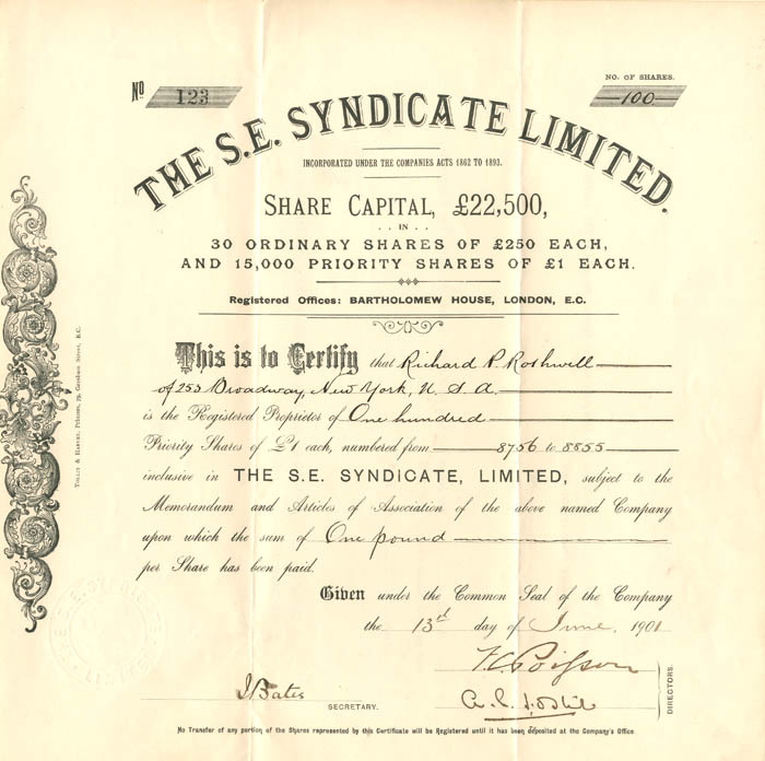 S.E. Syndicate Limited