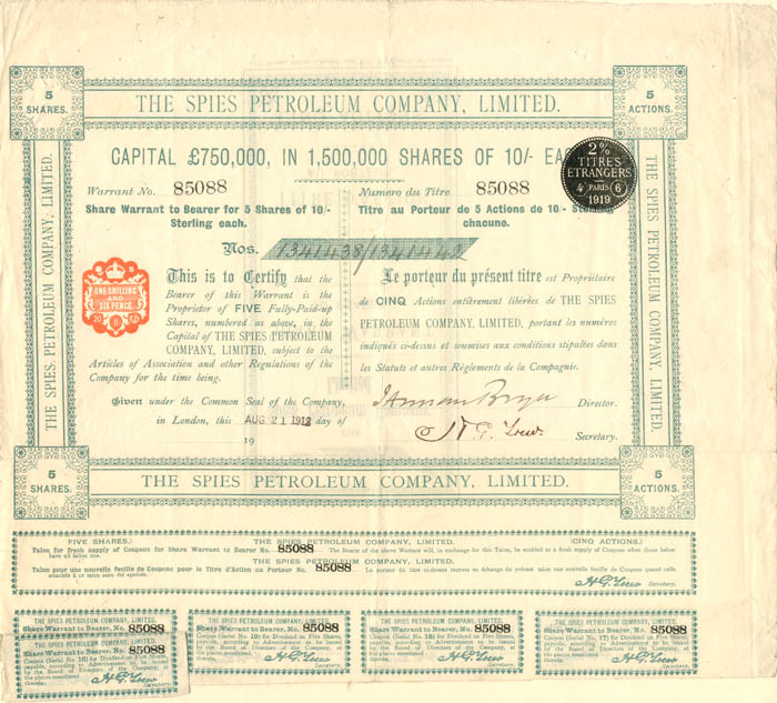 Spies Petroleum Company, Limited