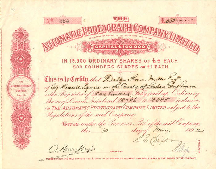Automatic Photograph Company, Limited