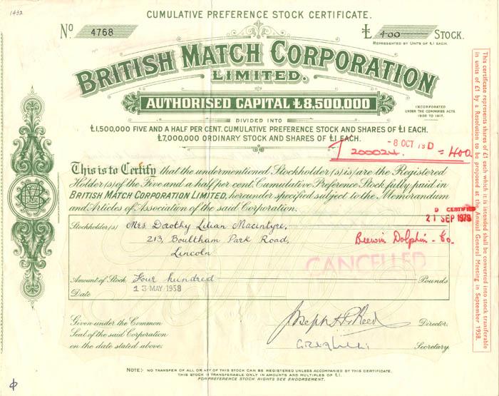 British Match Corporation Limited