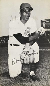 Ernie Banks signed Postcard - SOLD
