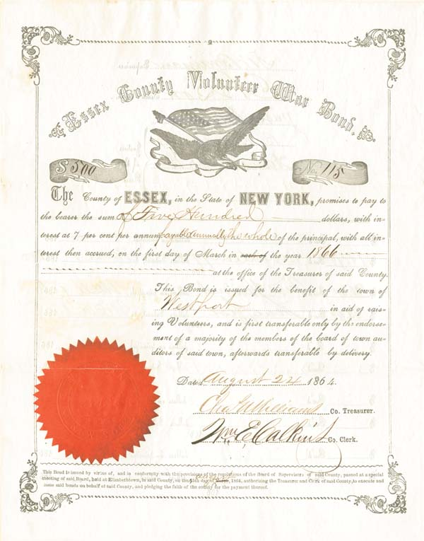 Essex County Volunteer War Bond