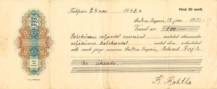 Estonia Check - SOLD