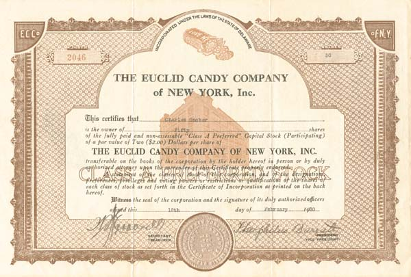 Euclid Candy Company of New York, Inc. SOLD