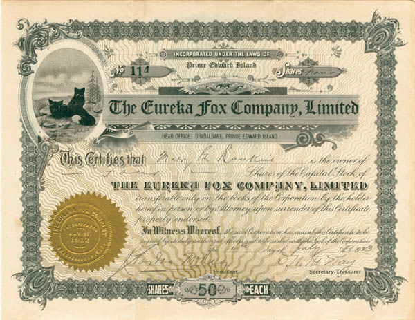 Eureka Fox Company, Ltd - SOLD