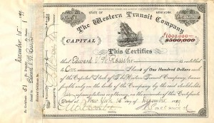 Western Transit Company signed by E.V.W. Rossiter