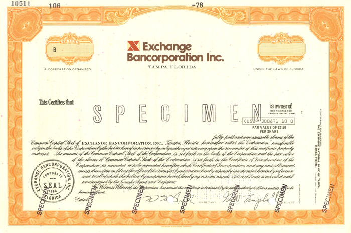 Exchange Bancorporation Inc.