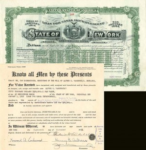 F.W. Vanderbilt signs State of New York document - SOLD