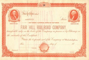 Fair Hill Railroad Company - SOLD