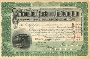 Fairmount Pack and Haddington Passenger Railway Company - SOLD