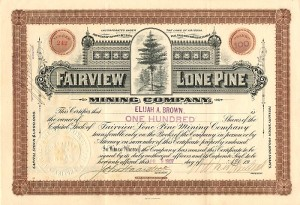 Fairview Lone Pine Mining Company