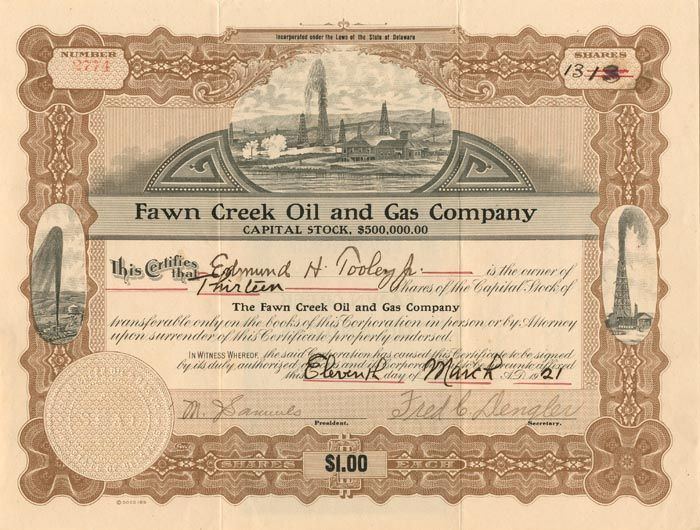 Fawn Creek Oil and Gas Company - SOLD