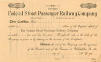 Federal Street Passenger Railway Company