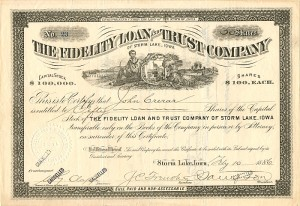 Fidelity Loan and Trust Company of Storm Lake, Iowa - SOLD