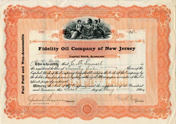 Fidelity Oil Company of New Jersey
