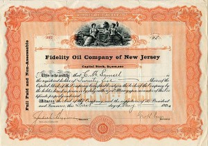 Fidelity Oil Company of New Jersey