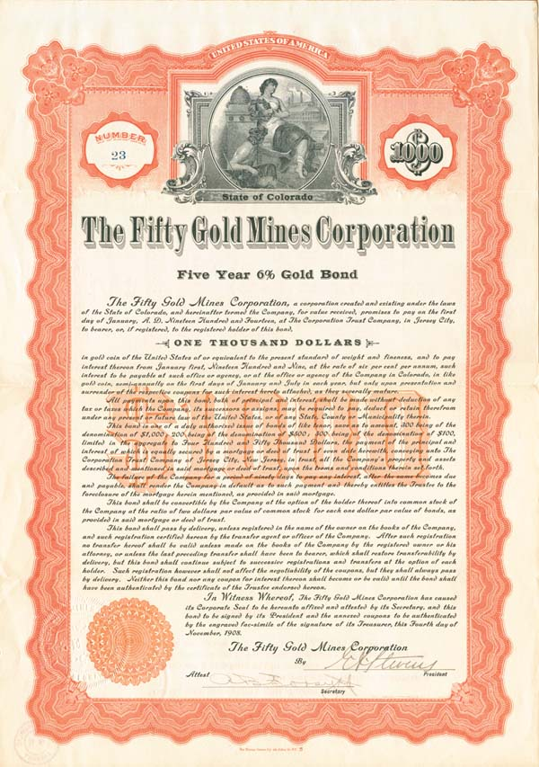 Fifty Gold Mines Corporation