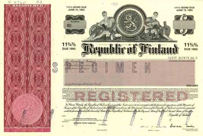 Republic of Finland - Bond