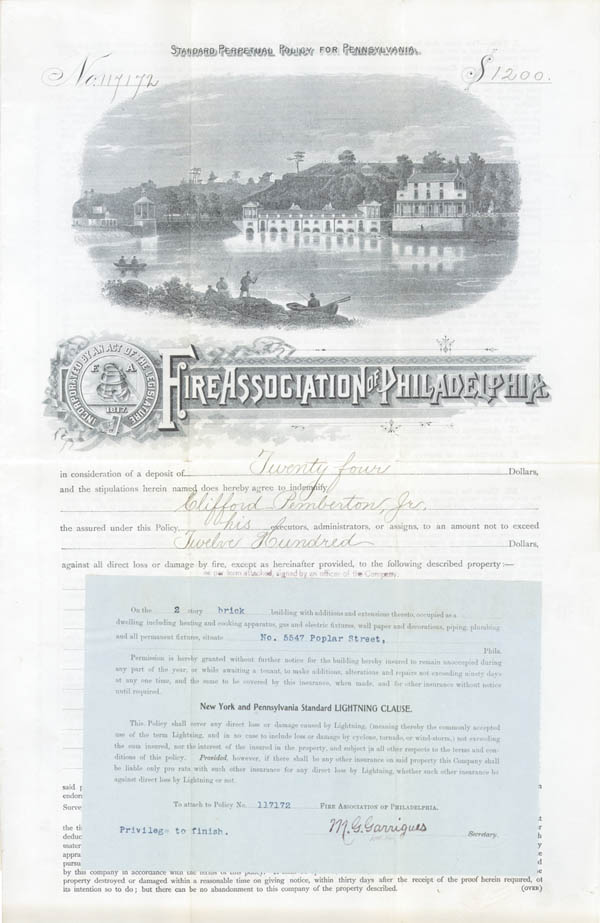Fire Association of Philadelphia - SOLD