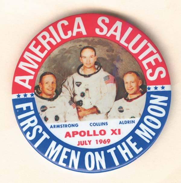America Salutes First Men On The Moon Pin