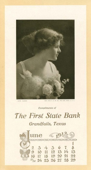 """The First State Bank"" Advertising Calendar"