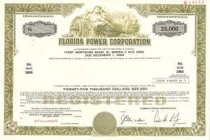 Florida Power Corporation - SOLD