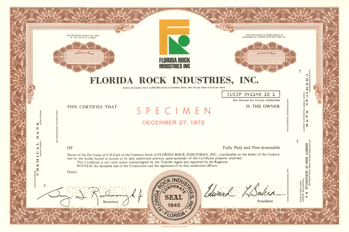 Florida Rock Industries, Inc