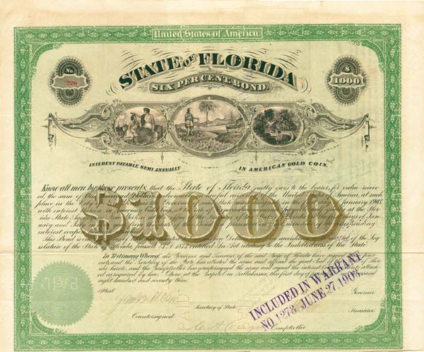 State of Florida - Bond - SOLD