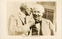 Post Card of Henry Ford and Thomas A. Edison