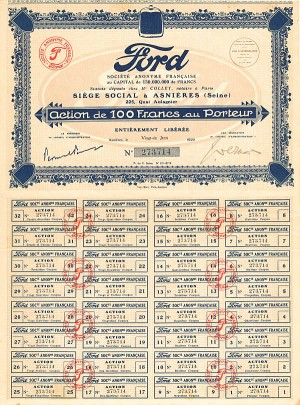 Ford Societe Anonyme Francaise