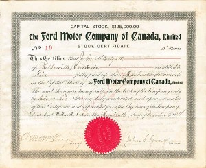 Ford Motor Company of Canada, Ltd - SOLD