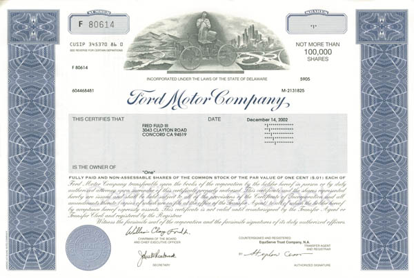 Collectible Canadian Automotive Stocks