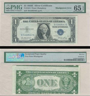 Paper Money Error - SOLD