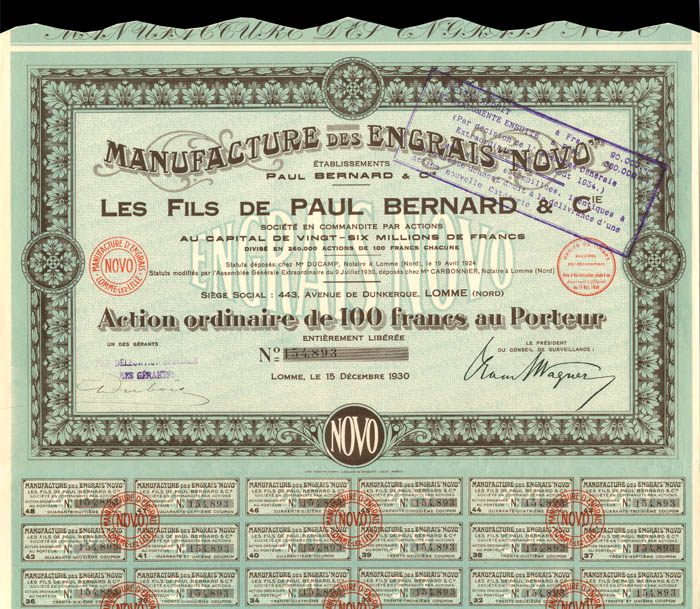 "Manufacture Des Engrais ""Novo"""