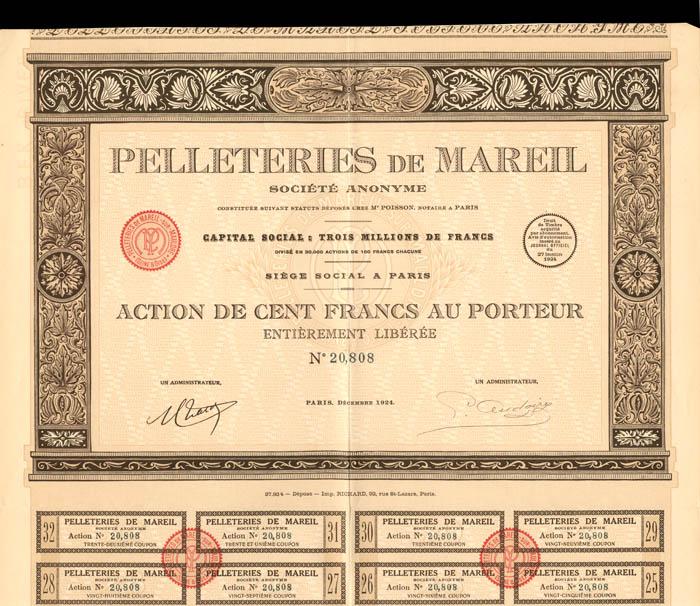 Pelleteries De Mareil