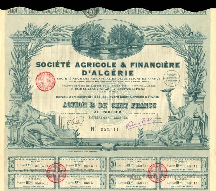 Societe Agricole and Financiere D'Algerie