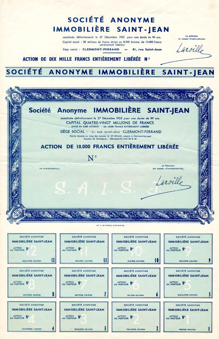 Societe Anonyme Immobiliere Saint-Jean