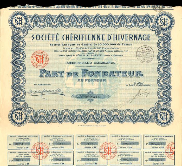 Societe Cherifienne D'Hivernage