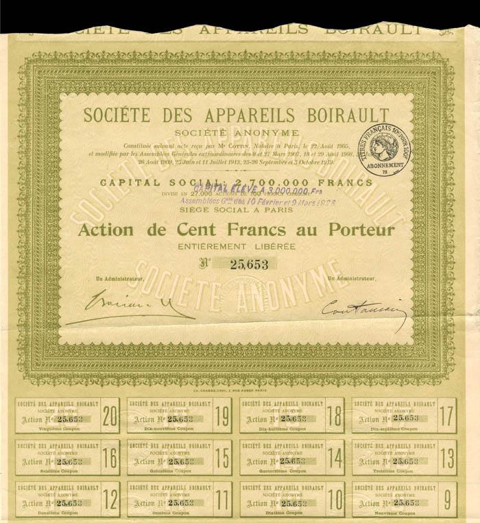 Societe Des Appareils Boirault