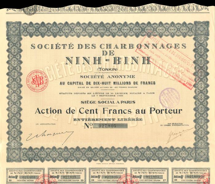 Societe Des Charbonnages De Ninh-Binh