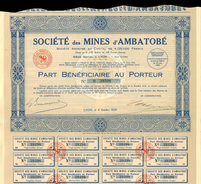 Societe des Mines d'Ambatobe