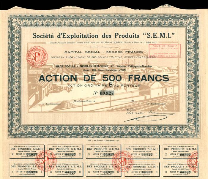 """Societe d'Exploitation des Produits """"S.E.M.I."""""""