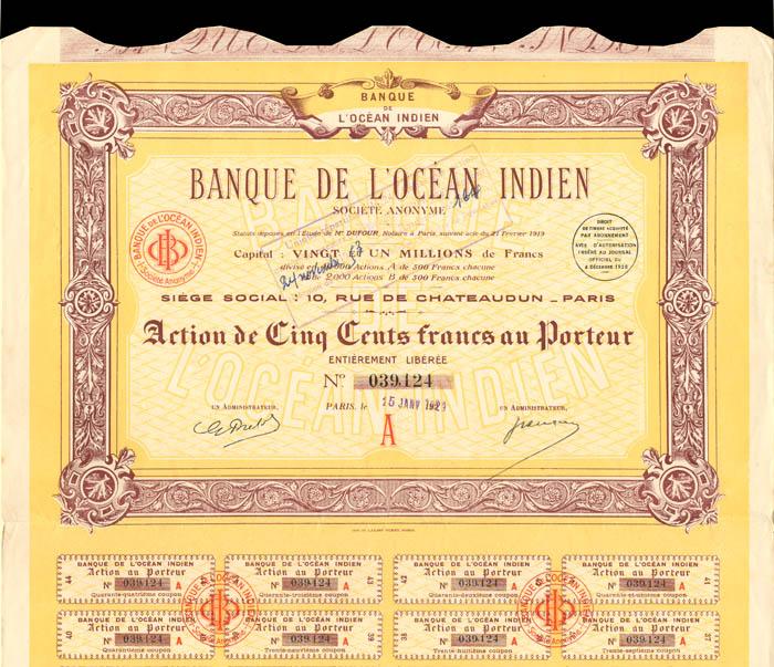 Banque De L'Ocean Indien