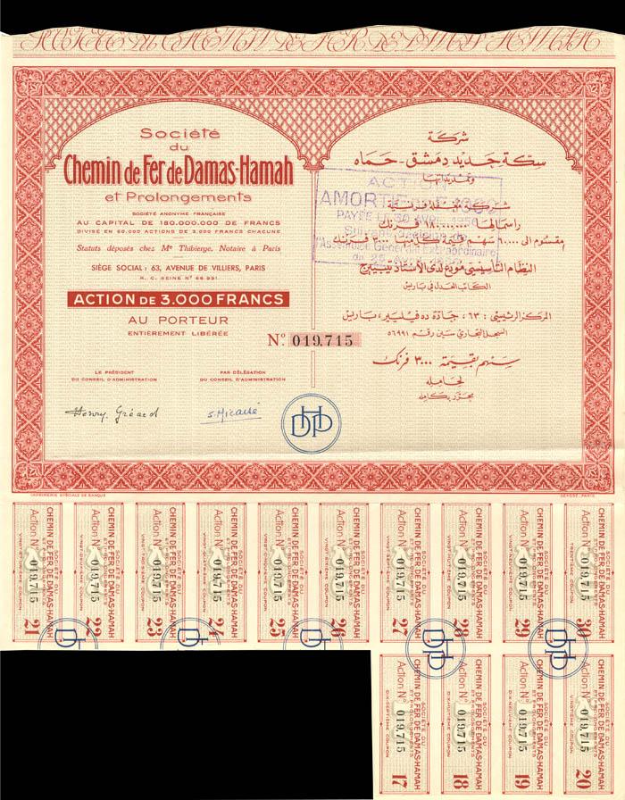 Societe du Chemin de Fer de Damas-Hamah